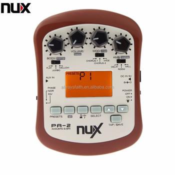 Nux Pa 2 Portable Acoustic Guitar Multi Effects Pedal Processor Flat