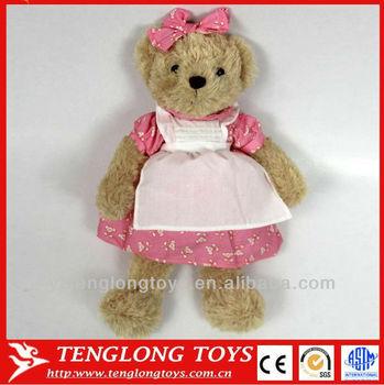 Soft Toy For Baby Girl Teddy Bear Wearing Dress Buy Girl Teddy