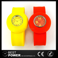 Wholesale Promotional Gift lovely silicone slap watch