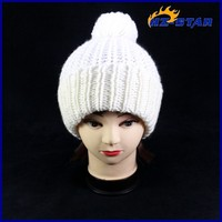 HZM-13302007 long beanie fashion mini top custom design your own winter pompom white funny knit winter hats