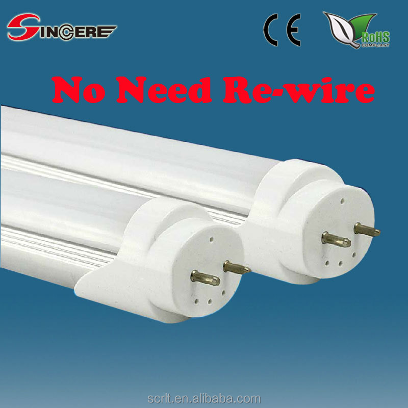 SCL-HT818-EC T8 LED 9/14/18W 600/900/1200MM LED tube no need re-wire able work with electronic ballast