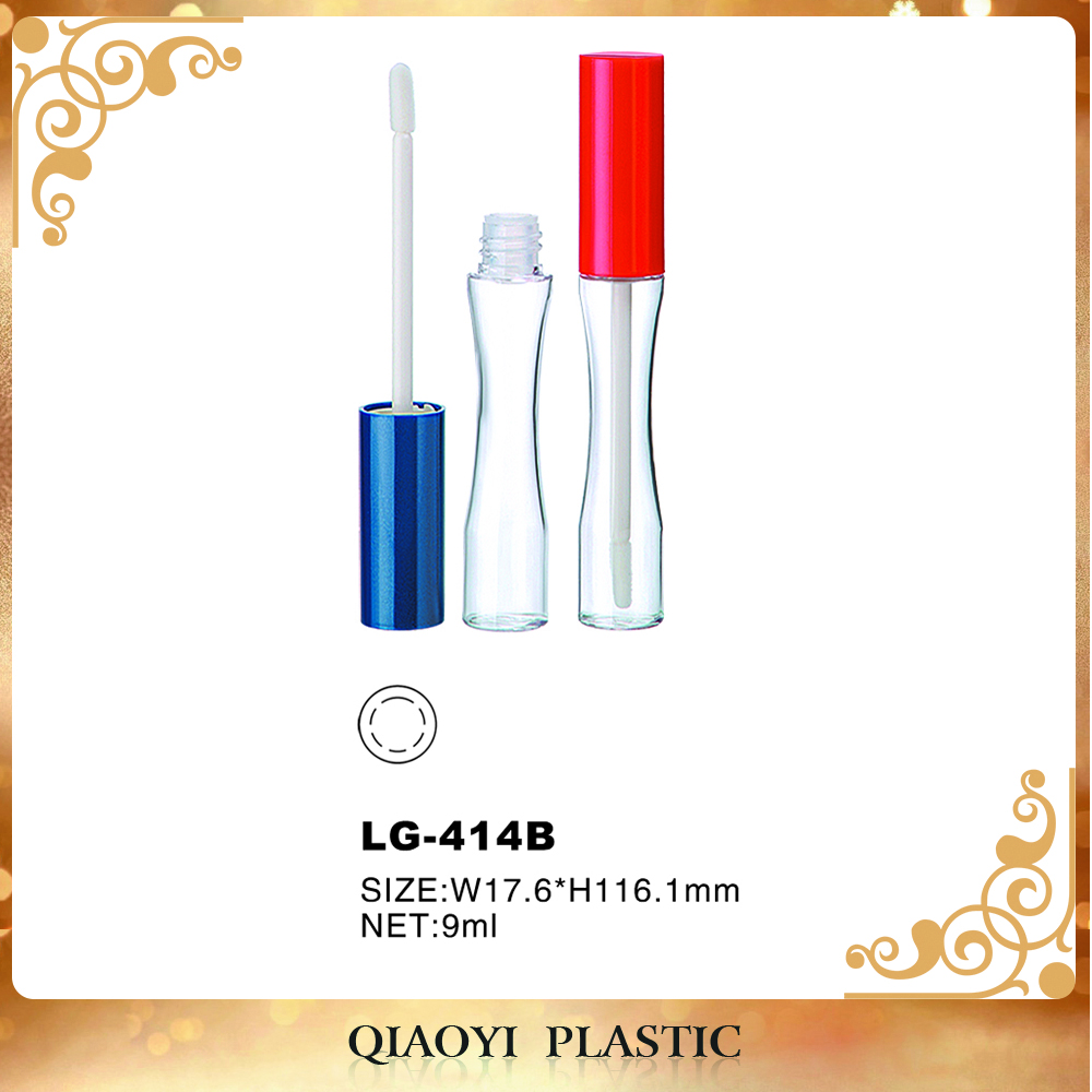 round empty lip gloss bottles transparent plastic tube