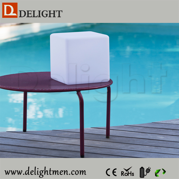 led cube table/ toddler cube chair/ led plastic cube seating