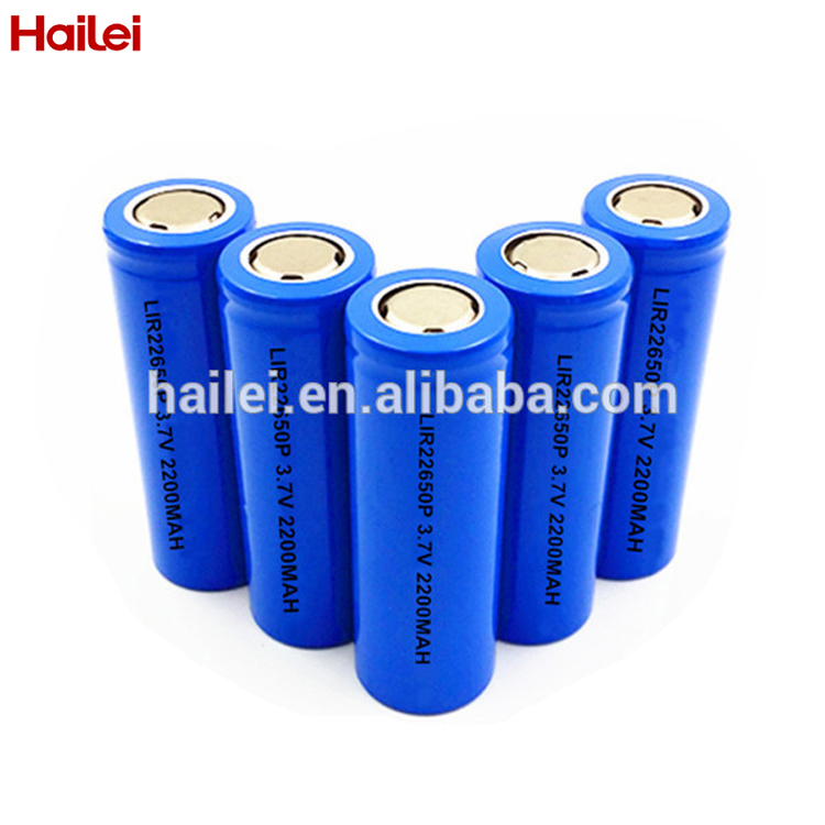 lithium iron phosphate 22650 battery 3.2V 2100mAh IFR rechargeable LiFePO4 battery