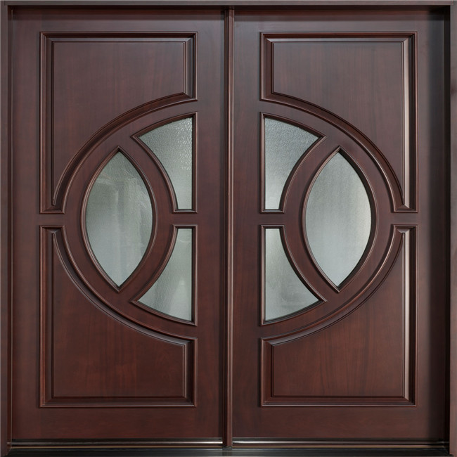 Single swing low cost interior glass french doors