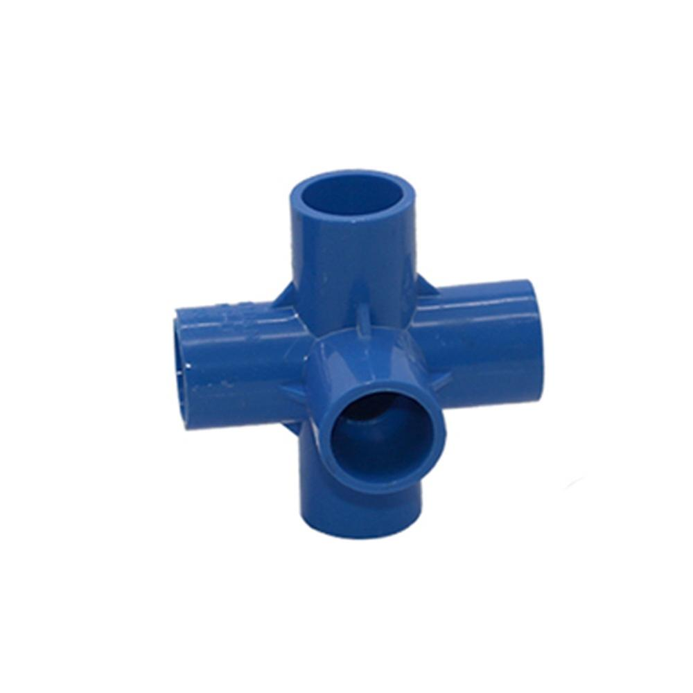 20mm PVC 5 Way Garden Lawn Pipe Joint Round Tube <strong>Fitting</strong>