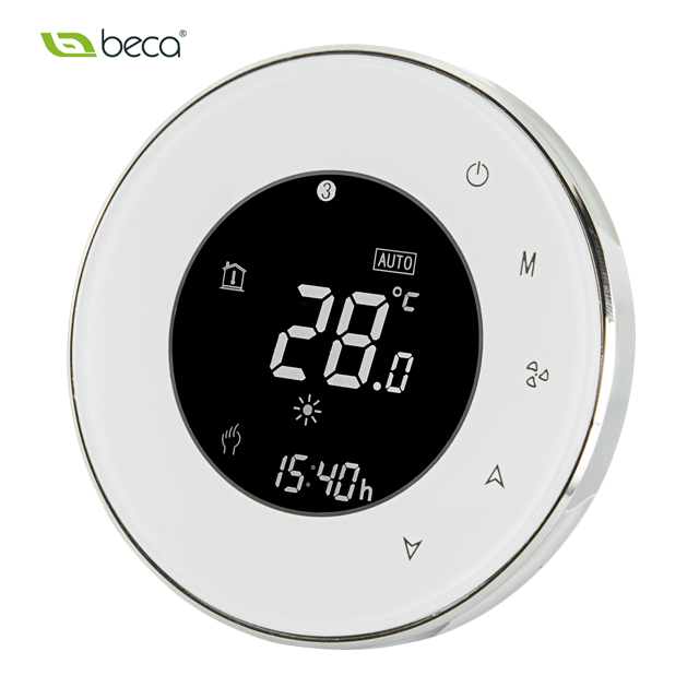 BAC-6000AL Round digital modern room thermostat for smart home AC