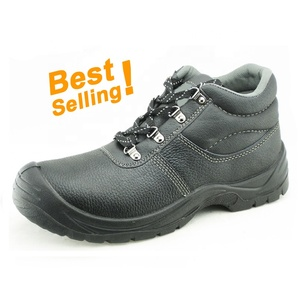 Buffalo leather PU sole working steel toe safety boots