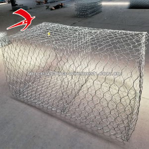 Galvanized gabion basket / glass rock gabion box / pvc coated gabion terra mesh