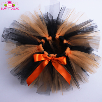 Hot sale Fashion Halloween party Tulle Fluffy baby tutus performance baby tutu ballet skirt