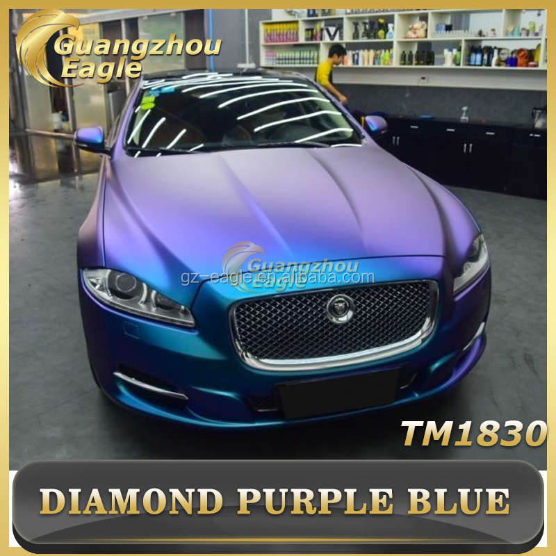 2017 Latest Design Premium Diamond Purple Blue Car Wrap Vinyl Film