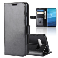 Premium Leather Flip Smart Cover Case for Samsung Galaxy S10 Custom Logo Leather Wallet Phone Case With Card Slot