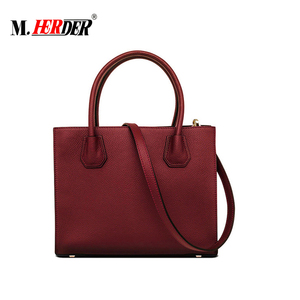 MD8112 Zipper open pebble genuine leather hand bags woman Guangzhou leather tote bag