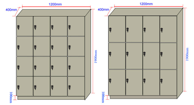 Jialifu Compact Laminate Athletic Storage Cabinet Locker
