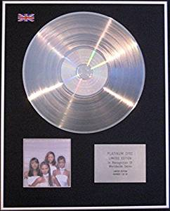 DESTINY'S CHILD - Limited Edition CD Platinum Disc - THE WRITINGS ON THE WALL