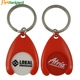Custom Hot Sale Metal Blank Shopping Cart Trolley Keychain Coin