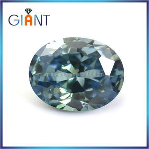 Hot sale color change zircon stone oval shape blue paraiba green tourmaline gemstone prices