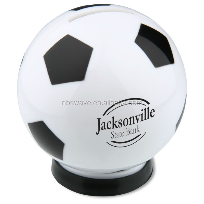 Soccer Ball Sport coin bank/piggy bank