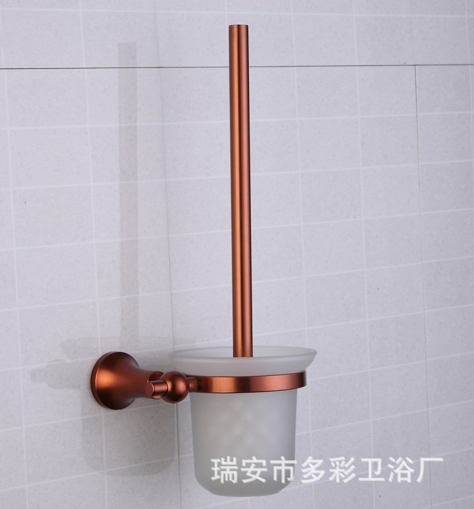 Green Aluminum color space toilet brush Cup bronze toilet set Cup holder toilet brush toilet brush holder