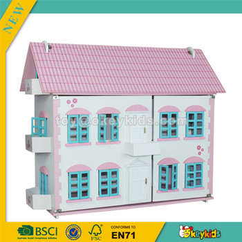 Wholesale Excellent Quality Kids Wooden Dollhouse Delicate Style