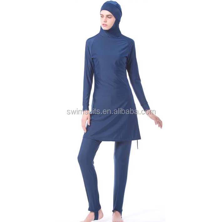 08686949385f6 Full skin covered swimsuit for muslim ladies good fit Islamic girl's  swimwear Two Piece swimming suit with hijab