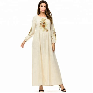 7243 New arrival kaftan/ DUBAI FANCY KAFTAN abaya Ladies Wholesale Maxi Muslim embroidered Dress dropshipper clothing