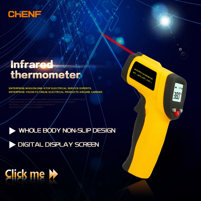 CHENF Best price High accuracy and sensitivity non contact infrared laser thermometer gun GM300 -50~380C