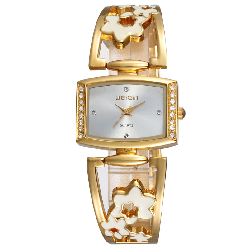 W4832 new design bling gold japan movt watch women