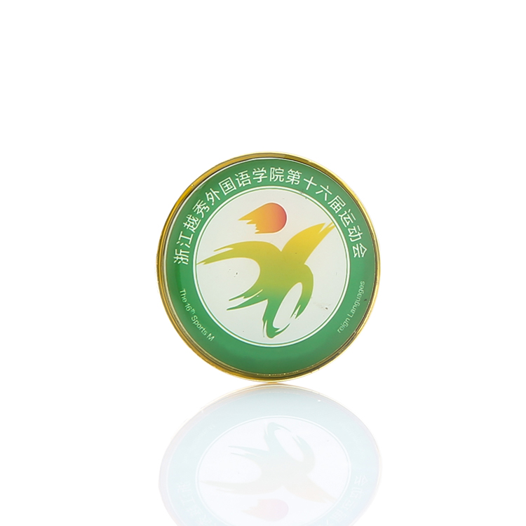 High Quality Round logo soft enamel custom metal badge