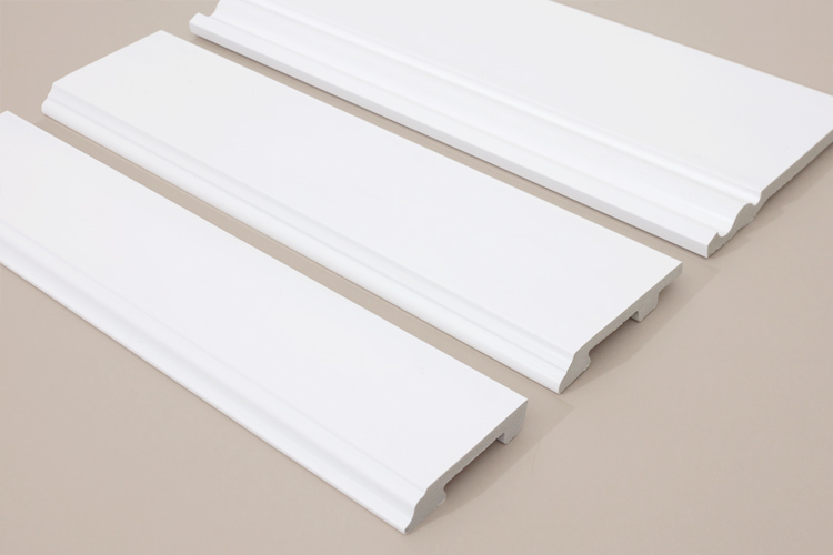 INTCO New Arrival 8cm Quick Install Plastic White Skirting Cornice Moulding