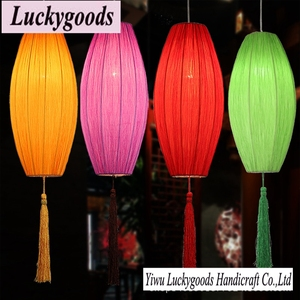 XK131 festival decor colorful ceiling hanging fabric lantern wholesale