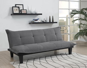 Folding Sofa Bed Design Space Saving Wooden Frame European Style Leather  Sofa Bed Modern