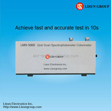 LMS-5000 Single Beam Uv Vis Spectrophotometer is applied for Measurement of LED, CFL and other kind of light sources