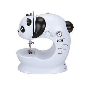 Cute panda design mini manual electric sewing machine for kids FHSM-228