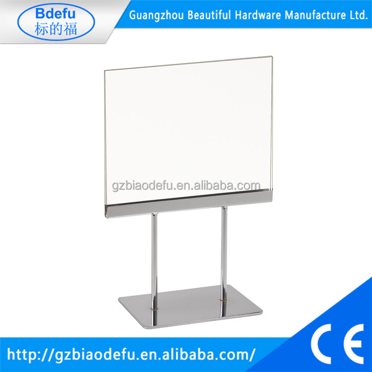140H x 180W Counter Twin Stem Metal Sign Holder