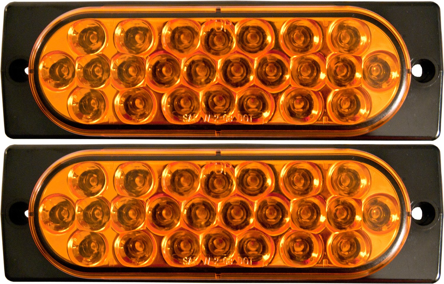Cheap Strobe Lights Find Deals On Line At Adjustable Light Get Quotations 2x Surface Mount Amber Led 6 Oval