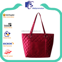 Wholesale fashion quilted fabric tote bags for women