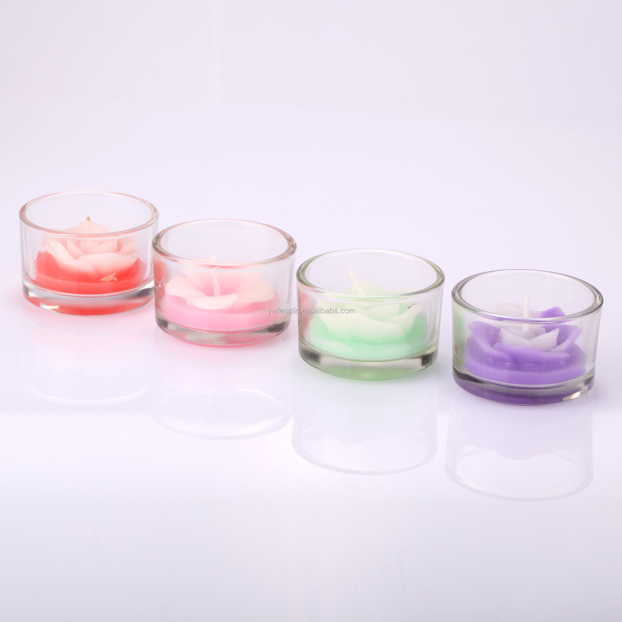 Factory direct sales small Paraffin Wax scented candle in the glass jar