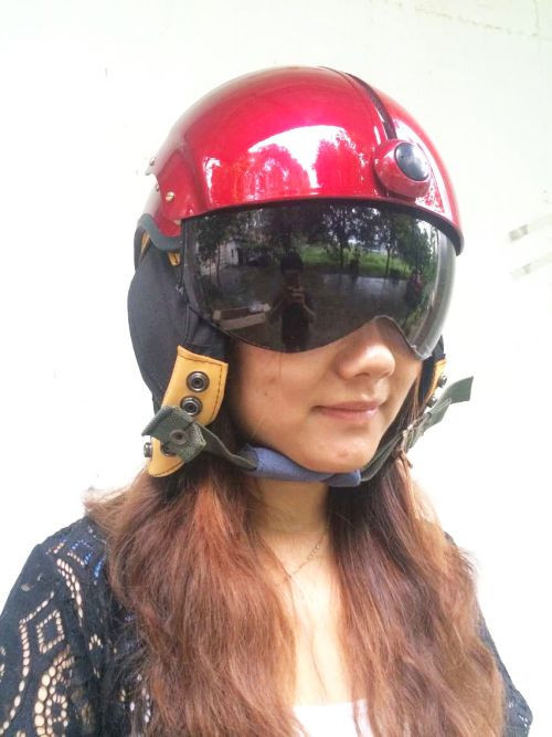 TKer Open Face Jet Helmet with Double Visor for Motorbike Scooter Yellow