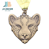 Jiabo running sports cheetah logo all metal pendant medals custom 3d