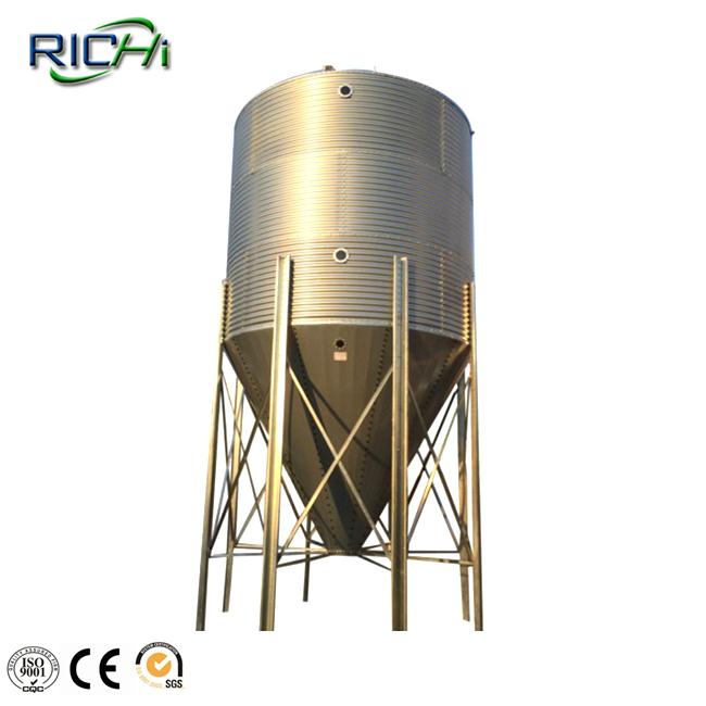 50T corrugated grain silos used for storage corn wheat