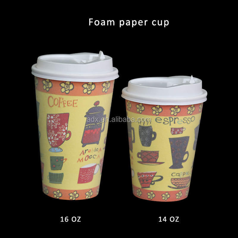 Hot Sale With High Quality Foam Paper Coffee Cup 12/16oz