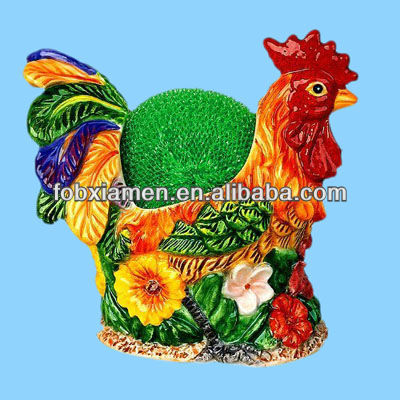 Rooster Scouring Pad Kitchen Dish Soap Holder
