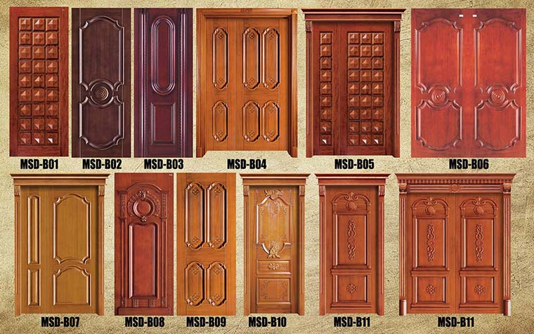 Ghana simple teak wood door house door designs buy for Simple wooden front door designs
