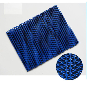 Rubber backing PVC S mats mainly use for swimming pool