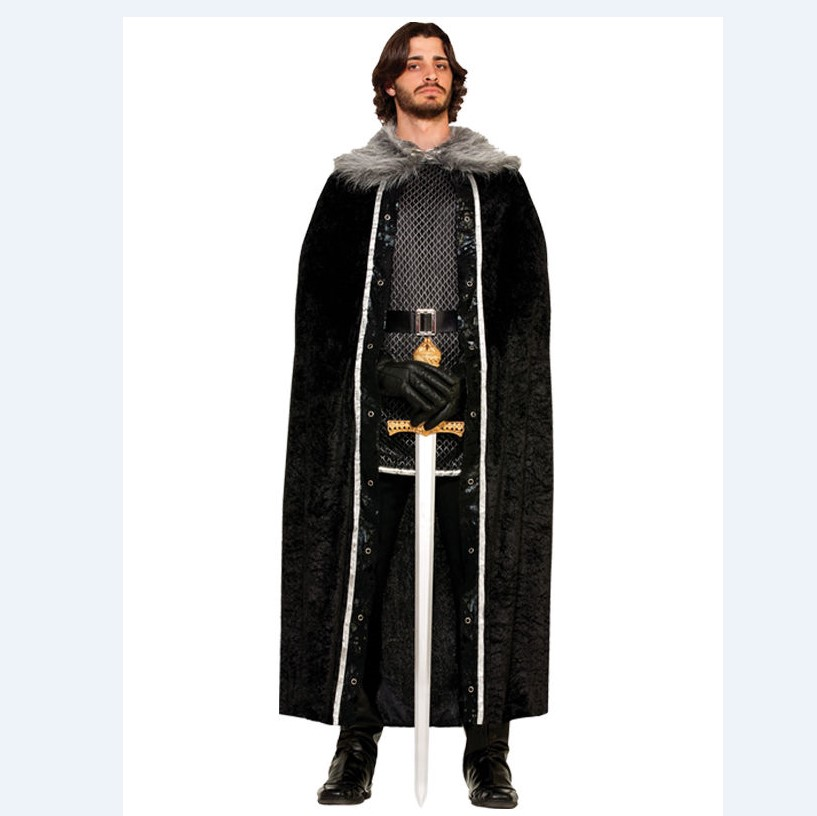 Jon Snow Cosplay Game of Thrones Costume Cape+Feather Shawl Halloween All Size