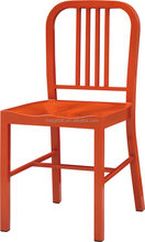 Red paint restaurant metal chairs for sale hotel lounge chair (FOH-BCC13)