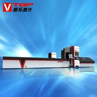 Aluminum / Titanium Pipe / Tube Fiber Metal Laser Cutting Machine Price