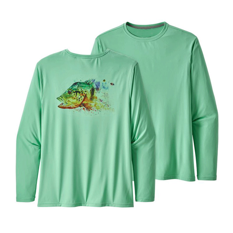 Customized Men's 100% Polyester Long-Sleeved Tee Shirt Quick-Drying Ultra-Wicking Fabric with UPF 50 Sun Protection фото