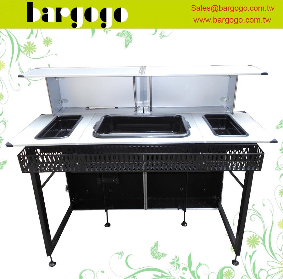Wsob05aaa valise style portable bar table pliante comptoir - Table pliante valise ...